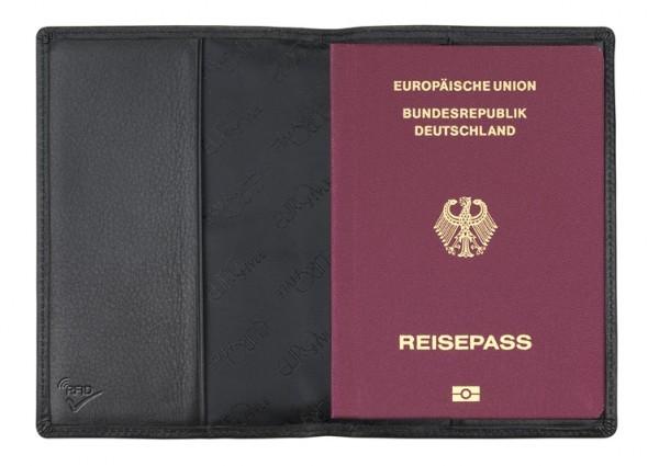 Reisepasshülle mit RFID-Folie