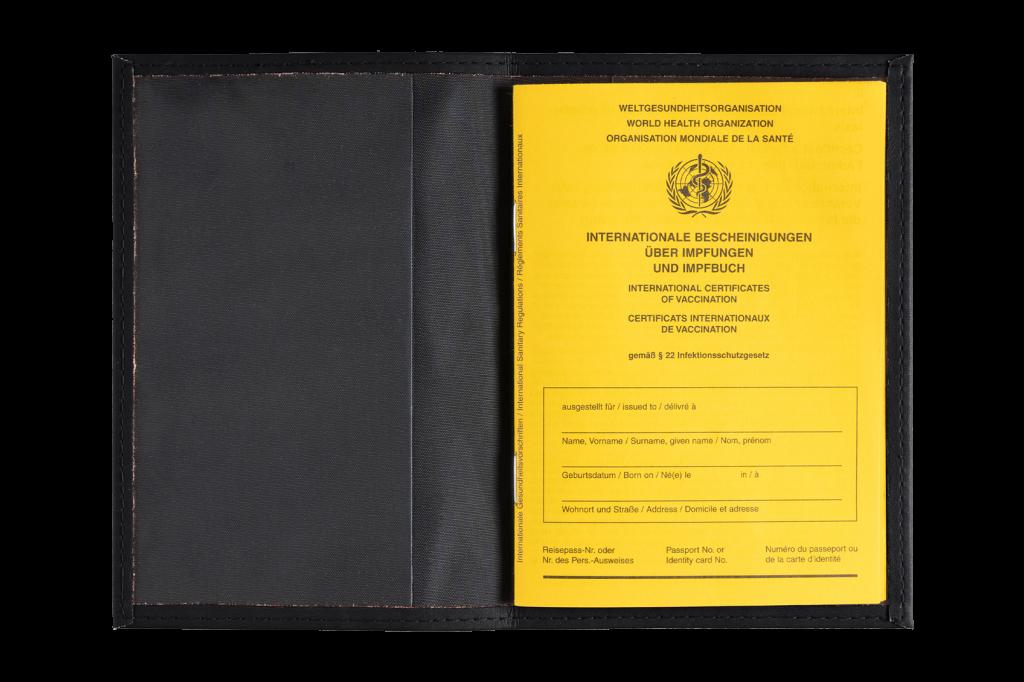 Schutzhülle für Impfbuch - PU Kunstleder